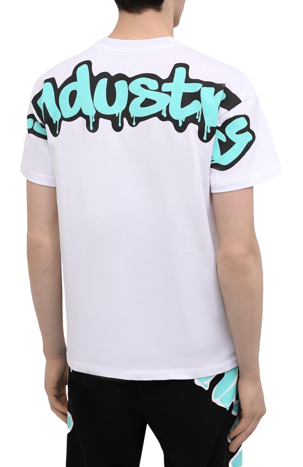 Мужская хлопковая футболка PHARMACY INDUSTRY белого цвета, арт. PHM224 | Фото 4