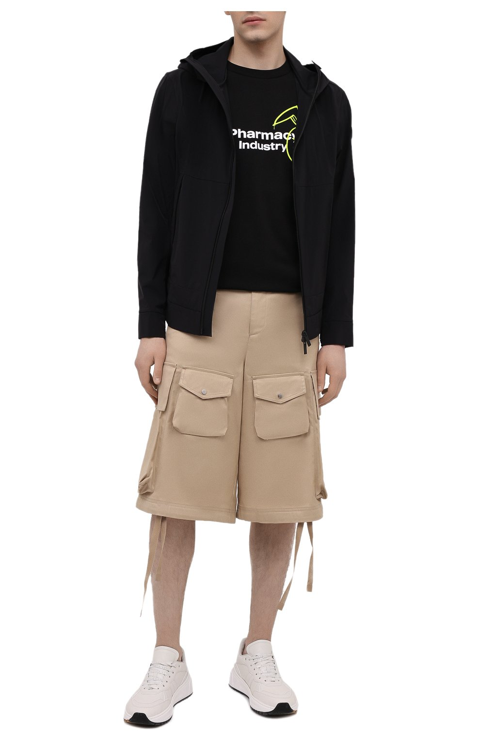 Мужская хлопковая футболка PHARMACY INDUSTRY черного цвета, арт. PHM222   Фото 2