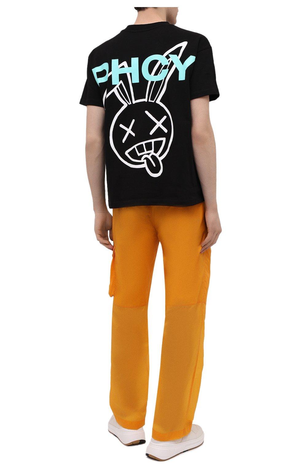 Мужская хлопковая футболка PHARMACY INDUSTRY черного цвета, арт. PHM216   Фото 2