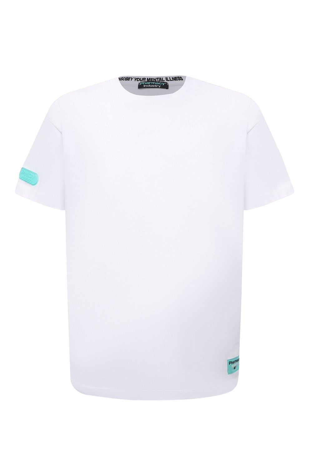 Мужская хлопковая футболка PHARMACY INDUSTRY белого цвета, арт. PHM216 | Фото 1