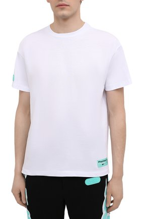 Мужская хлопковая футболка PHARMACY INDUSTRY белого цвета, арт. PHM216 | Фото 3