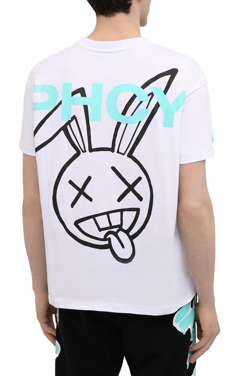 Мужская хлопковая футболка PHARMACY INDUSTRY белого цвета, арт. PHM216 | Фото 4