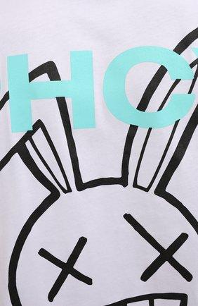 Мужская хлопковая футболка PHARMACY INDUSTRY белого цвета, арт. PHM216 | Фото 5
