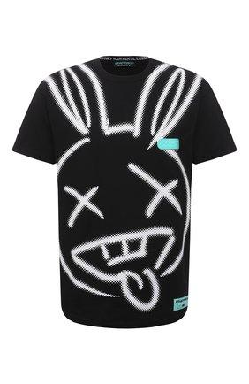 Мужская хлопковая футболка PHARMACY INDUSTRY черного цвета, арт. PHM214 | Фото 1