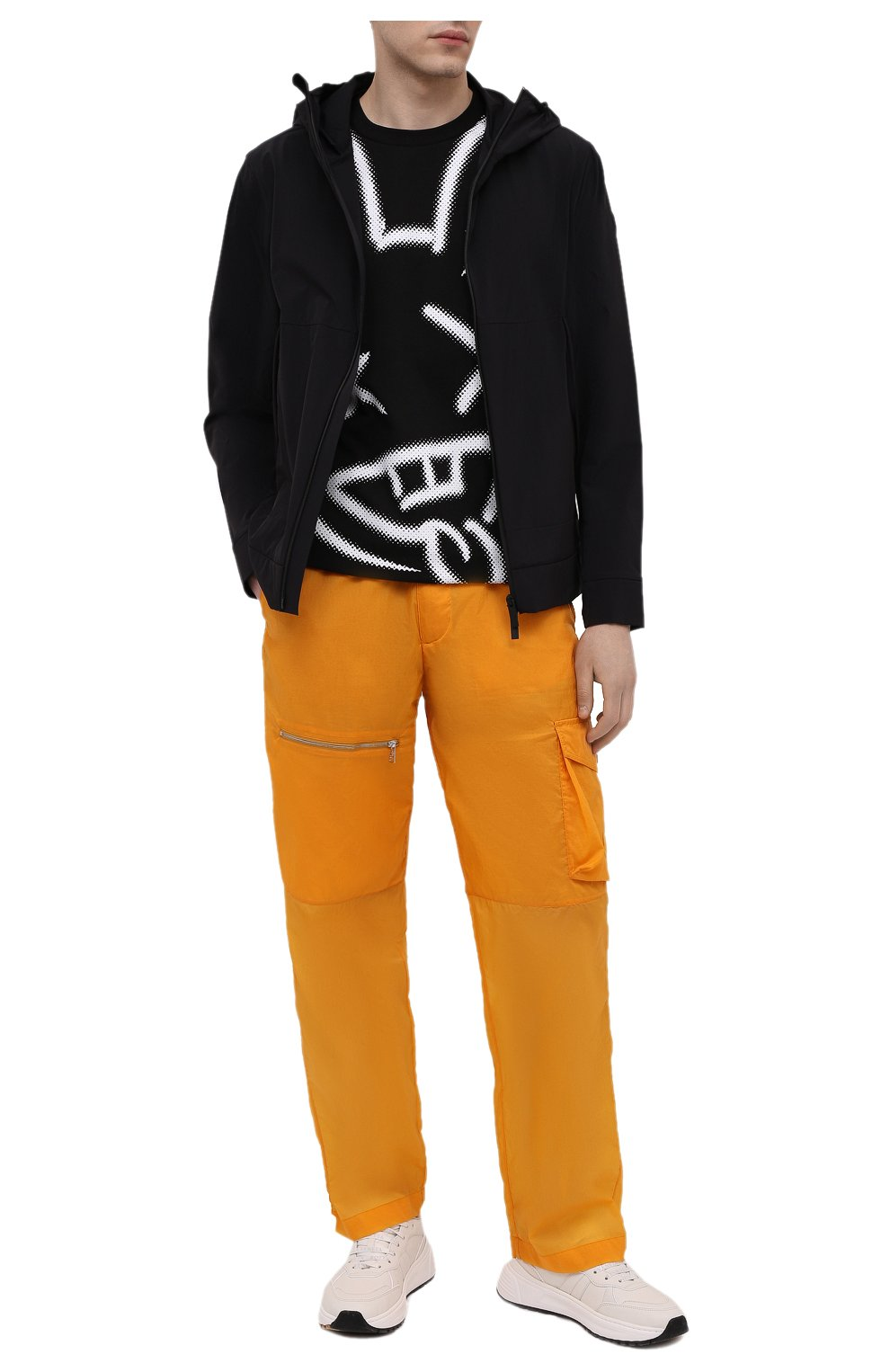Мужская хлопковая футболка PHARMACY INDUSTRY черно-белого цвета, арт. PHM214 | Фото 2