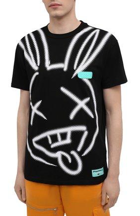 Мужская хлопковая футболка PHARMACY INDUSTRY черно-белого цвета, арт. PHM214 | Фото 3