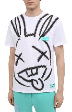 Мужская хлопковая футболка PHARMACY INDUSTRY белого цвета, арт. PHM214 | Фото 3