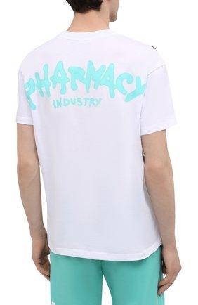 Мужская хлопковая футболка PHARMACY INDUSTRY белого цвета, арт. PHM214 | Фото 4