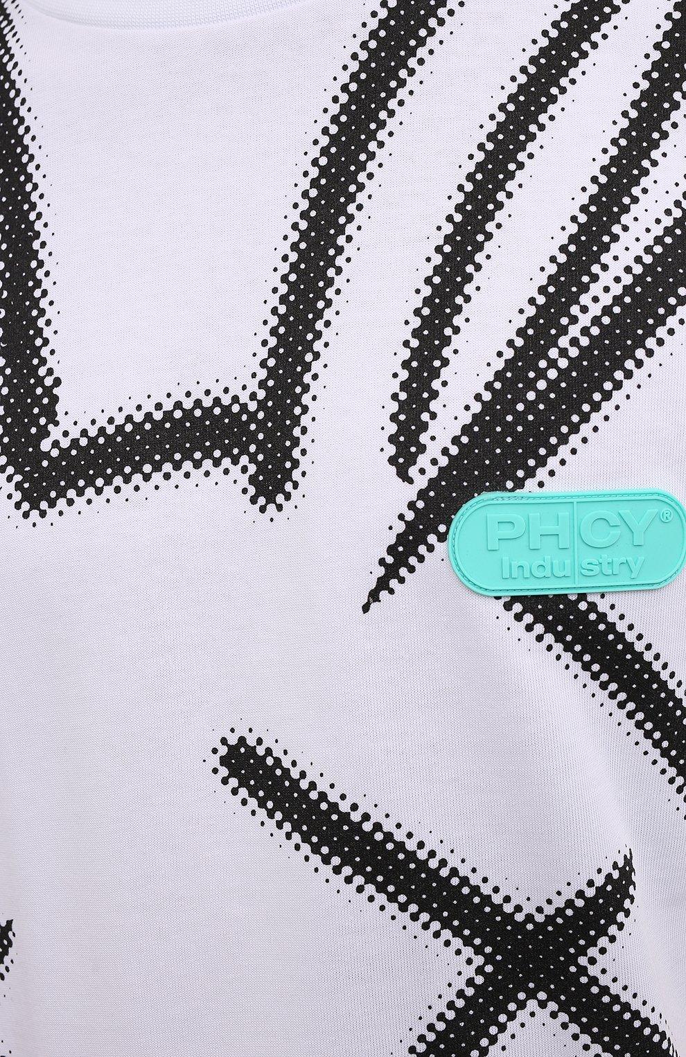 Мужская хлопковая футболка PHARMACY INDUSTRY белого цвета, арт. PHM214 | Фото 5