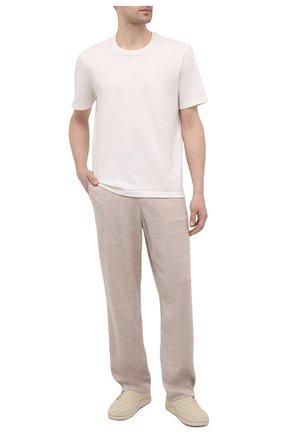 Мужские текстильные кроссовки BOTTEGA VENETA кремвого цвета, арт. 651306/V0GV1 | Фото 2 (Подошва: Плоская; Материал внутренний: Натуральная кожа; Материал внешний: Текстиль; Стили: Гранж)
