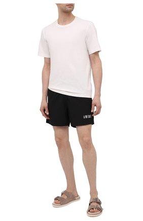 Мужские плавки-шорты AMIRI черного цвета, арт. MSB001-001   Фото 2