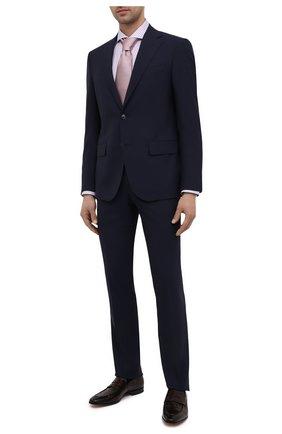 Мужские кожаные лоферы SANTONI темно-коричневого цвета, арт. MCDU14714LA1EHR0T50 | Фото 2 (Мужское Кросс-КТ: Лоферы-обувь; Стили: Классический; Материал внутренний: Натуральная кожа)