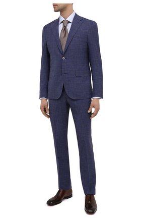 Мужские кожаные оксфорды SANTONI темно-коричневого цвета, арт. MCLI17558JA2IHVYT50 | Фото 2 (Стили: Классический; Материал внутренний: Натуральная кожа)