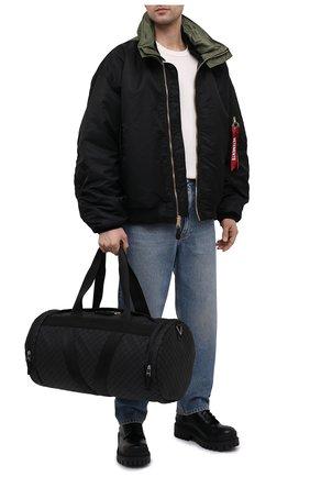 Мужская дорожная сумка BOTTEGA VENETA черного цвета, арт. 651729/V0GK1 | Фото 2