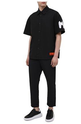 Мужские брюки ANDREA YA'AQOV черного цвета, арт. 21MFAB29 | Фото 2