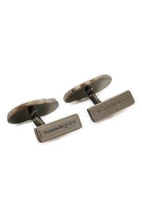 Мужские запонки ALEXANDER MCQUEEN серебряного цвета, арт. 650882/J160K | Фото 2
