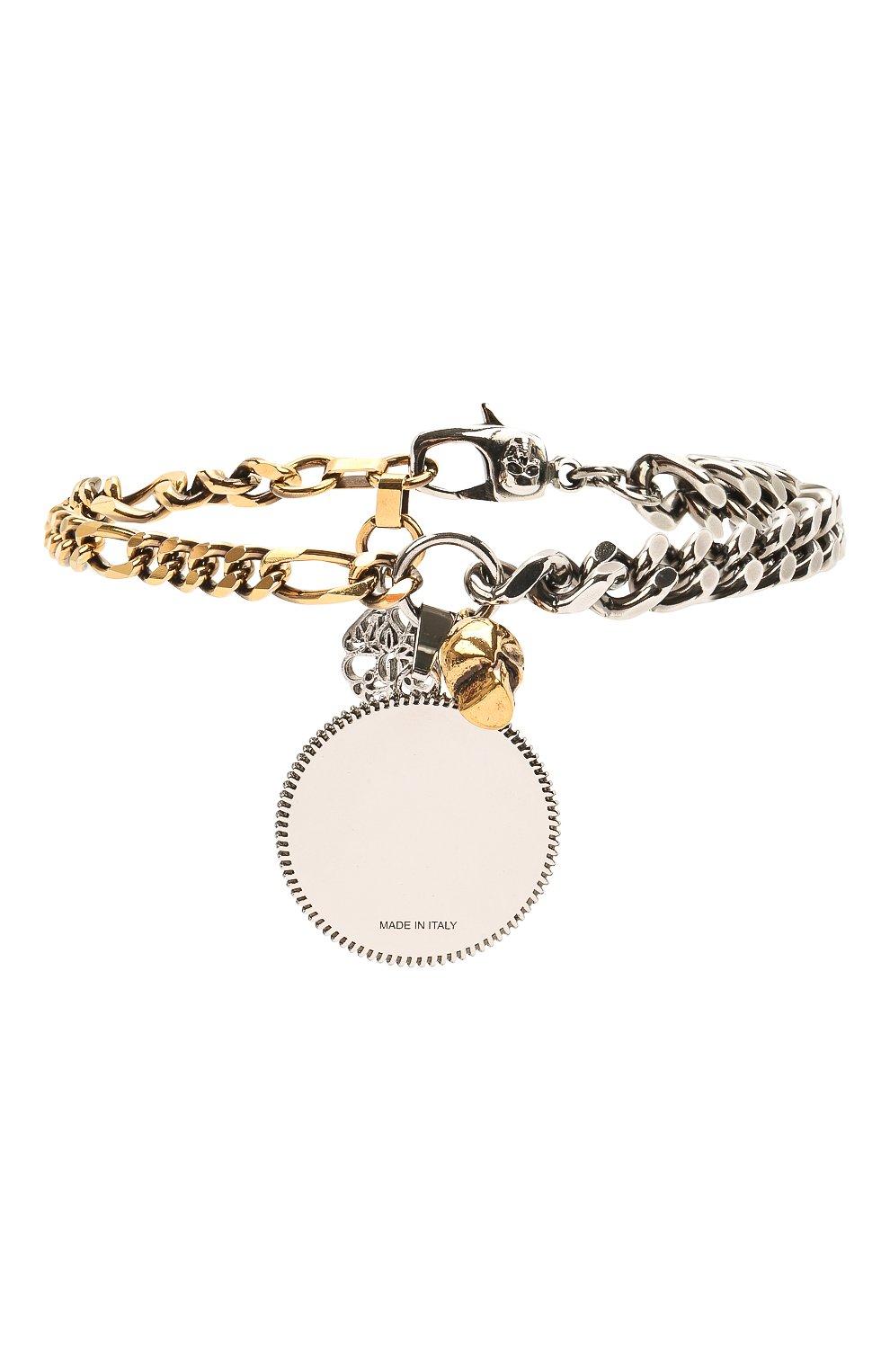 Мужской браслет ALEXANDER MCQUEEN серебряного цвета, арт. 651091/J160K | Фото 2