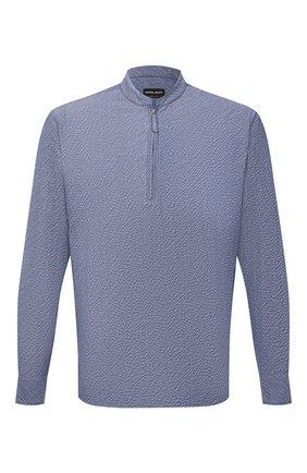 Мужская хлопковая рубашка GIORGIO ARMANI синего цвета, арт. 1SGCCZ50/TZ874 | Фото 1