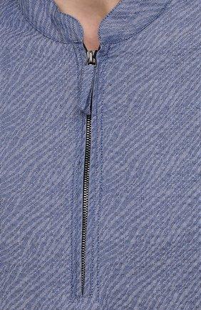 Мужская хлопковая рубашка GIORGIO ARMANI синего цвета, арт. 1SGCCZ50/TZ874 | Фото 5