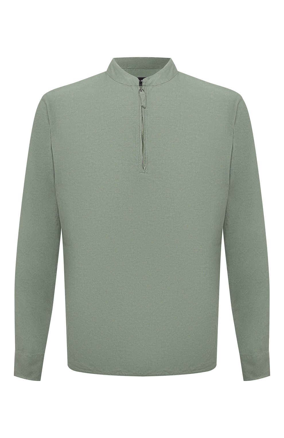 Мужская льняная рубашка GIORGIO ARMANI зеленого цвета, арт. 1SGCCZ50/TZ256   Фото 1