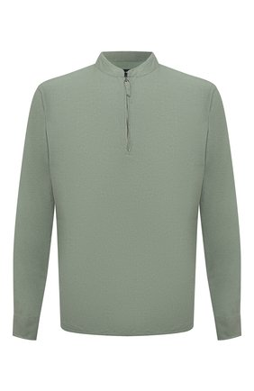 Мужская льняная рубашка GIORGIO ARMANI зеленого цвета, арт. 1SGCCZ50/TZ256 | Фото 1