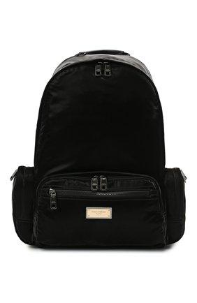 Мужской текстильный рюкзак sicilia dna DOLCE & GABBANA черного цвета, арт. BM1961/A0243 | Фото 1