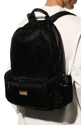 Мужской текстильный рюкзак sicilia dna DOLCE & GABBANA черного цвета, арт. BM1961/A0243 | Фото 2