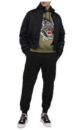 Мужские комбинированные кеды HIDE&JACK темно-серого цвета, арт. 1GRYDGRWHT | Фото 2