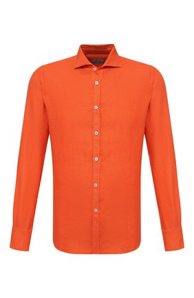 Мужская льняная рубашка CANALI оранжевого цвета, арт. L7B1/GM02128   Фото 1