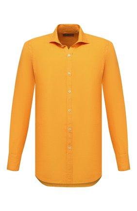 Мужская льняная рубашка CANALI желтого цвета, арт. L7B1/GM02128   Фото 1