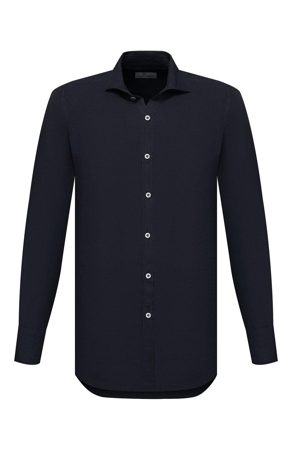 Мужская льняная рубашка CANALI черного цвета, арт. L7B1/GM02128 | Фото 1