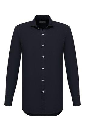 Мужская льняная рубашка CANALI черного цвета, арт. L7B1/GM02128 | Фото 1 (Случай: Повседневный; Материал внешний: Лен; Длина (для топов): Стандартные; Принт: Однотонные; Рукава: Длинные; Воротник: Акула; Стили: Кэжуэл; Манжеты: На пуговицах)