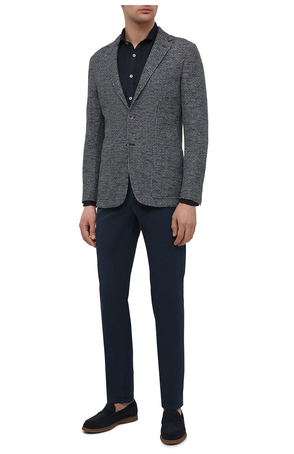 Мужская льняная рубашка CANALI черного цвета, арт. L7B1/GM02128 | Фото 2