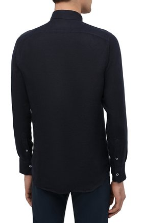 Мужская льняная рубашка CANALI черного цвета, арт. L7B1/GM02128 | Фото 4