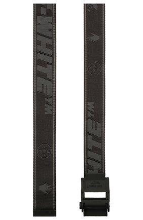 Мужской текстильный ремень OFF-WHITE черного цвета, арт. 0MRB050S21FAB001 | Фото 2