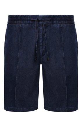 Мужские джинсовые шорты BRIONI синего цвета, арт. RPP10L/08D30 | Фото 1