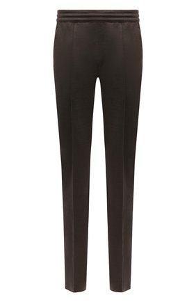 Мужские брюки из шелка и льна BRIONI коричневого цвета, арт. UJGD0L/P0620 | Фото 1