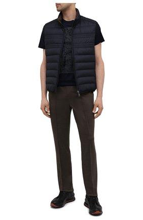 Мужские брюки из шелка и льна BRIONI коричневого цвета, арт. UJGD0L/P0620 | Фото 2