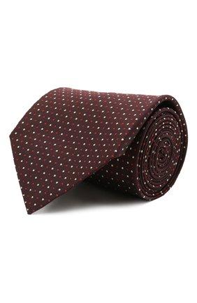 Мужской шелковый галстук BRIONI темно-коричневого цвета, арт. 062I00/P0486 | Фото 1 (Материал: Текстиль, Шелк; Принт: С принтом)