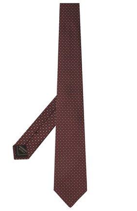 Мужской шелковый галстук BRIONI темно-коричневого цвета, арт. 062I00/P0486 | Фото 2