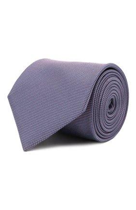 Мужской шелковый галстук BRIONI сиреневого цвета, арт. 062I00/09459 | Фото 1