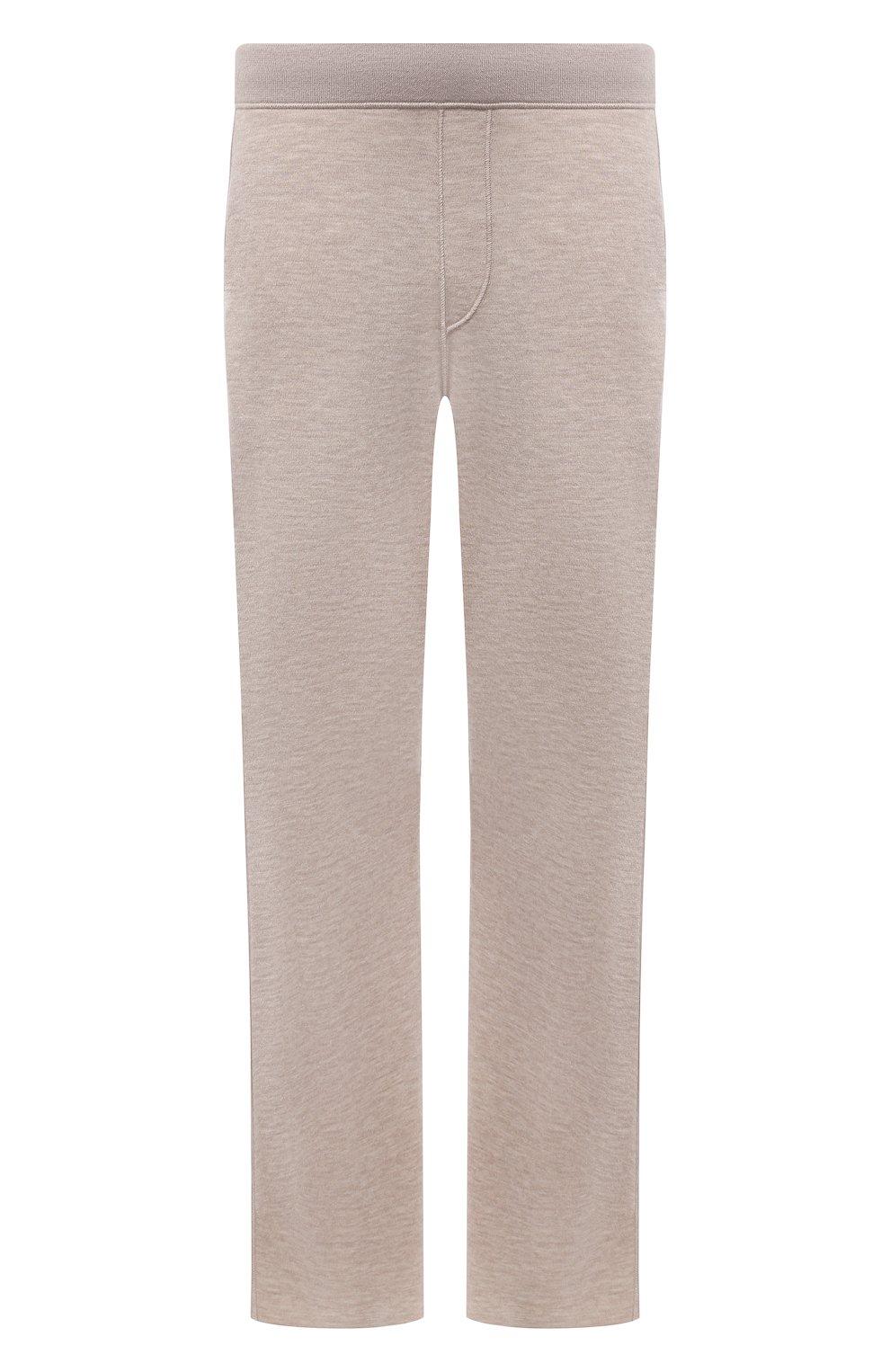 Мужские брюки из кашемира и шелка BRIONI бежевого цвета, арт. UMIL0L/P0K03   Фото 1