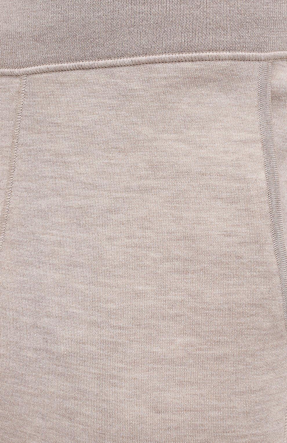 Мужские брюки из кашемира и шелка BRIONI бежевого цвета, арт. UMIL0L/P0K03   Фото 5