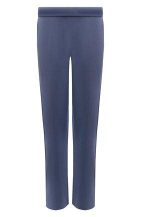 Мужские брюки из шелка и хлопка BRIONI синего цвета, арт. UMGL0L/P0K22   Фото 1 (Длина (брюки, джинсы): Стандартные; Материал внешний: Шелк, Хлопок; Случай: Повседневный; Мужское Кросс-КТ: Брюки-трикотаж; Стили: Спорт-шик)