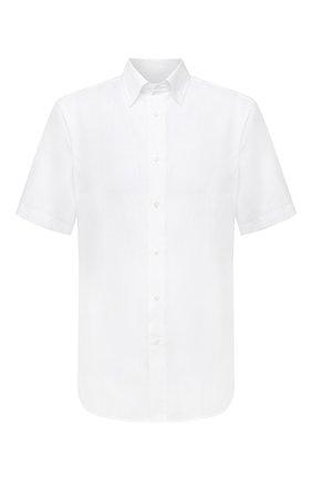 Мужская льняная рубашка BRIONI белого цвета, арт. SCDG0L/P9111 | Фото 1
