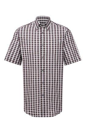 Мужская рубашка из хлопка и льна BRIONI коричневого цвета, арт. SCDG0L/P0006 | Фото 1