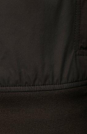 Мужской бомбер ASPESI хаки цвета, арт. S1 I I918 G703 | Фото 5 (Кросс-КТ: Куртка; Рукава: Длинные; Принт: Без принта; Материал внешний: Синтетический материал; Материал подклада: Синтетический материал; Длина (верхняя одежда): Короткие; Стили: Кэжуэл)