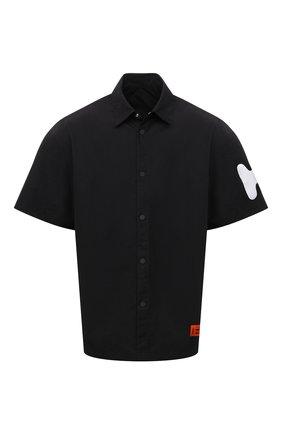Мужская рубашка HERON PRESTON черного цвета, арт. HMGA027S21FAB0011001 | Фото 1