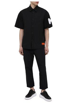 Мужская рубашка HERON PRESTON черного цвета, арт. HMGA027S21FAB0011001 | Фото 2