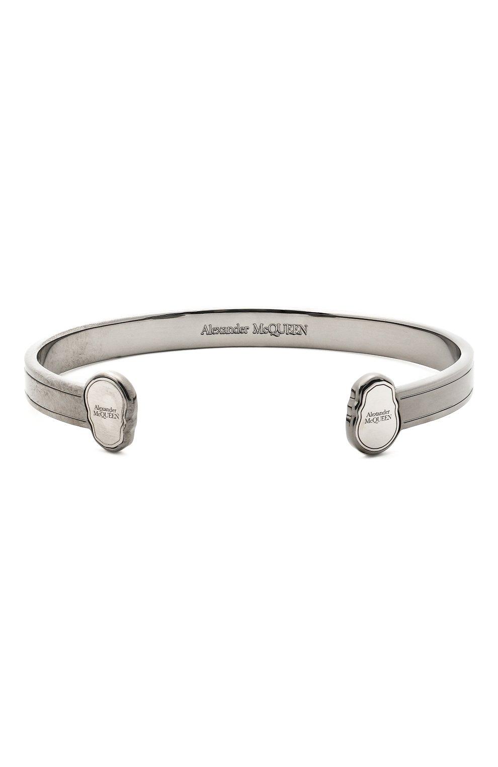 Мужской браслет ALEXANDER MCQUEEN серебряного цвета, арт. 650848/J160K | Фото 1